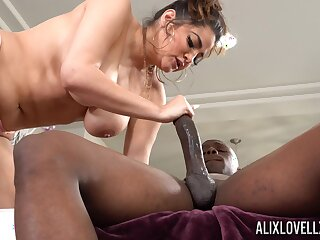 Monster dick in tight pussy of chubby white lady Alix Lovell
